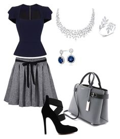 """""""Outwear#8"""" by elusiin ❤ liked on Polyvore featuring Roland Mouret, Michael Kors and Blue Nile"""