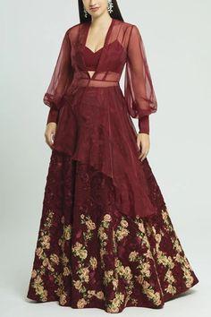 Buy Embroidered Lehenga Set by Neeta Lulla at Aza Fashions Indian Gowns Dresses, Pakistani Dresses, Indian Outfits, Pakistani Bridal Wear, Bridal Lehenga, Celebrity Fashion Outfits, Celebrities Fashion, Celebrity Style, Neeta Lulla