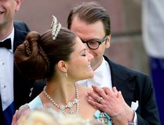 Crown Princess Victoria and Prince Daniel at the wedding of Princess Madeleine and Chris O'Neill, 8 June 2013