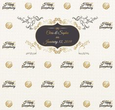 Anniversary Step and Repeat Red Carpet Backdrop, Event Banner, Happy Anniversary, Repeat, Backdrops, How To Memorize Things, Templates, Prints, Happy Brithday