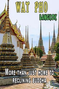 Wat Pho is one of the largest temples in Thailand and home to the giant golden reclining Buddha.  If it isn't already, it really should be on your list the next time you visit Bangkok.