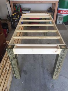 how to make your own farmhouse table, how to, painted furniture, woodworking projects, All framed up