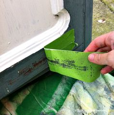 An easy trick for helping milk paint to flake & crackle.  | 2 Little Superheroes
