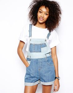 Woman in Dungarees