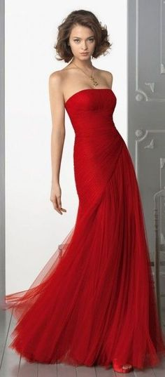 Aire Barcelona flowy red dress