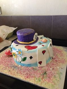 Alice in Wonderland cake for the cast and crew.