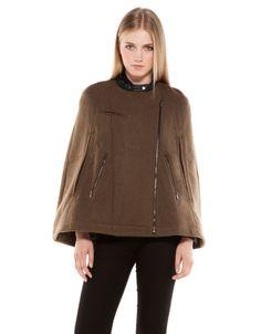Bershka Ireland - BSK imitation leather detail cape Price: 69.99 €  Ref. 6473/848