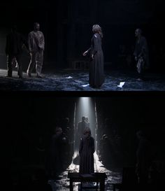John and Elizabeth Proctor, final scene of The Crucible. Play with Richard Armitage at the Old Vic.