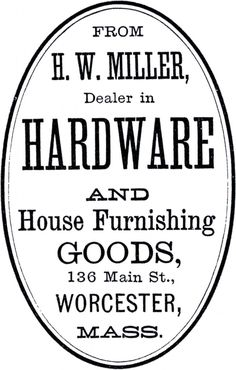 Cute Vintage Hardware Label! - The Graphics Fairy