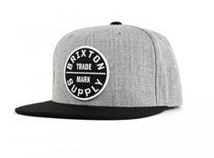 The Giant Peach - Brixton - Oath III Men's Snapback Hat, Light Heather Grey/Black, $30.00 (https://www.areamart.com/product/brixton-mens-oath-iii-snapback-hat/)