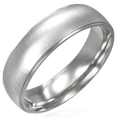 Mens Brushed Finish 6mm Stainless Steel Ring £8.99 men's jewellery #mensfashion #mensjewellery