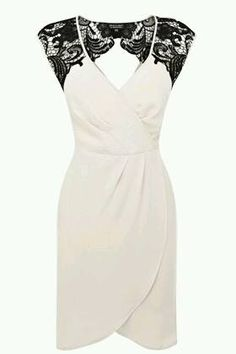 LACE SHOULDER WRAP DRESS - Really stunning- I wish this was in something other than white so I could wear it to one of the weddings im attending! Look Fashion, Fashion Beauty, Big Fashion, Pretty Dresses, Beautiful Dresses, Dress Skirt, Wrap Dress, Lace Dress, Bodycon Dress