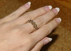 Elastic Ring  •  Free tutorial with pictures on how to make a beaded band ring in under 15 minutes