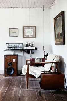 music room - like the wood floor with white walls.  White would look good with b photos