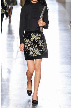 TOPSHOP UNIQUE Brunswick embellished cotton-velvet mini skirt  £433.33 https://www.net-a-porter.com/products/604864
