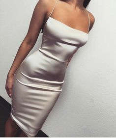 Prom Dresses Beautiful, Sexy ivory tea length spaghetti strap simple party dress, Looking for the perfect prom dress to shine on your big night? Prom Dresses 2020 collection offers a variety of stunning, stylish ball. Satin Dresses, Elegant Dresses, Pretty Dresses, Sexy Dresses, Evening Dresses, Short Dresses, Fashion Dresses, Silver Satin Dress, Dresses Uk