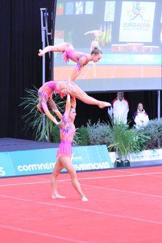 Acro European Championships 2013 Silver Medal Junior women's Group GB