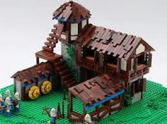 Lego Age, Medieval Houses, Age Of Empires, Lego Building, Lego Creations, Middle Ages, Legos, Brick, Buildings
