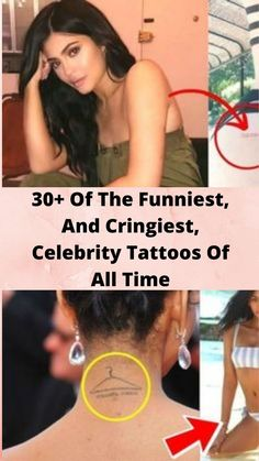 30+ Of The #Funniest, And #Cringiest, Celebrity #Tattoos Of All Time Bridal Nails, Bridal Makeup, Barcode Tattoo, Simplistic Tattoos, Makeup Transformation, Funny Laugh, Easy Hairstyles, Hairstyle Ideas, Wedding Hairstyles