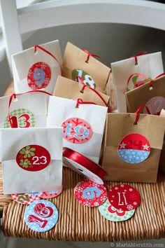 DIY: Freebie Christmas Advent Calendar on MarlaMeridith.com