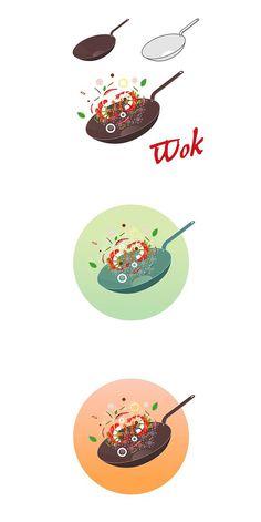 Concept illustration for restaurant. Brunch Sydney, Burger Box, Chef Logo, Logo Desing, Deep Frying, Catalog Design, Logo Food, Modern Graphic Design, Bottle Design