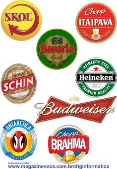 Topo para bolo: cervejas marcas: skol, itaipava, bavaria, schin, heineken, antarctica, brahma, budweiser. Compre em nossa loja autorizada. Burger King Logo, Bavaria, Scrap, Beer, Vintage, Heineken, Paper Dahlia, Beer Birthday Cakes, Ale