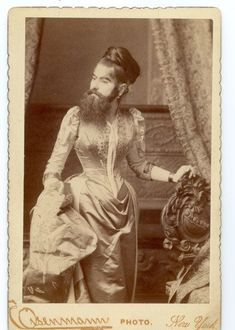 Rare Photos and the Story of Annie Jones, the Most Celebrated Bearded Lady of the Victorian Era Old Pictures, Old Photos, Vintage Photos, Vintage Burlesque, Vintage Circus, Steampunk Circus, Dark Circus, Human Oddities, Bearded Lady