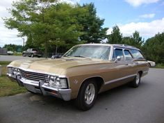 While the description of this 1967 Chevrolet Impala station wagon for sale on Hemmings. 1967 Chevy Impala, 67 Impala, Chevrolet Chevelle, Chevy Vehicles, Wagon R, Sports Wagon, Classic Chevrolet, American Muscle Cars, Station Wagon