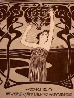 Kolo Moser Wien, lithographierter Einband von - DIE KUNST FÜR ALLE, Ausgabe XVI. Heft 17 vom 1.7.1901, , 30 x 22 cm