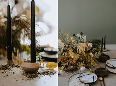 Edgy and Contemporary with Sleek Lines and Wildflowers - The Wedding Notebook magazine Wedding Notebook, Wooden Textures, Rustic Theme, Newlyweds, Spice Things Up, Earthy, Tablescapes, Wild Flowers, Photos