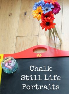 Still Life Chalk Invitation to Create - In The Playroom