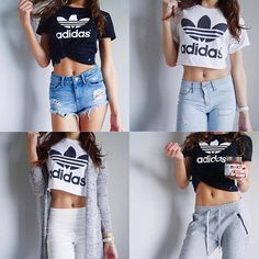 Find images and videos about outfit and adidas on We Heart It - the app to get lost in what you love. Adidas Outfit, Adidas Fashion, Womens Fashion, Fashion Trends, Dress Up, Cute Outfits, Crop Tops, Instagram, My Style