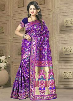 Online shopping store to buy latest designer sarees at amazing prices. Customization and free shipping worldwide. Buy this strange weaving work classic designer saree.