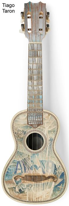 Some of the Cavaquinhos from the EXHIBITION 70 CAVAQUINHOS 70 ARTISTS at the AC MUSEU CAVAQUINHO Some I really like; others are a bit naff but lets all BIG UP the Cavaquinho --- https://www.pinterest.com/lardyfatboy/