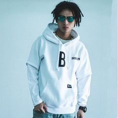 Brooklny hip hop hoodies street dancer white sweatshirt pullover design