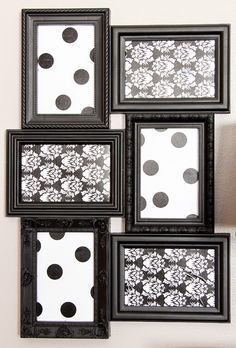 Gather up some black frames and Create this trendy wall art >>> DIY Decor Tape from Hazel & Ruby  makes it easy