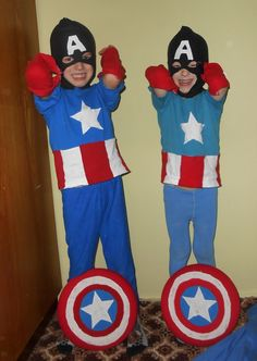 My lil Captain Americas....thanks for the inspiration, everyone :-)