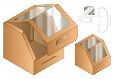 Box packaging die cut boxes die cut Vectors, Photos and PSD files Cake Boxes Packaging, Food Packaging Design, Box Packaging Templates, Box Patterns, Doodle Patterns, Diy Gift Box, Box Design, Paper Crafts, Graphics Vintage
