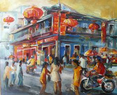 """""""Chinatown Port Louis"""" Mauritius by Anne Delplace"""