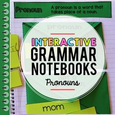 This interactive notebook pack includes activities for pronouns.Get the Bundle and Save Big!Save and get the Grammar Bundle!This comprehensive pronouns interactive notebook resource has everything you need for teaching pronouns in the setting. Preposition Pictures, Preposition Activities, Teaching Pronouns, Grammar Notebook, Interactive Journals, Journal Template, Parts Of Speech, Prepositions, Education