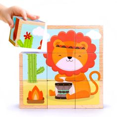 New arrive baby toys cartoon designs six animal painting puzzles wooden toys large particles 1 2 3 4 years old baby gift MG105. Yesterday's price: US $26.12 (21.20 EUR). Today's price: US $20.11 (16.42 EUR). Discount: 23%.