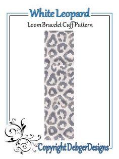 White Leopard - Loom Bracelet Cuff Pattern