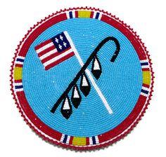 Native American Beaded Medallions | kb jpeg kq designs native american beadwork powwow regalia and beaded ...