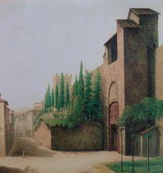 Porta a Pinti e il cimitero degli inglesi fuori le mira in un quadro di Fabio Borbottoni