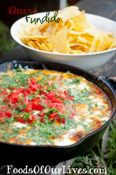 Camp Food Queso Fundido - Foods of Our Lives  (easy & yummy!.. no need to go camping to make this! lol)
