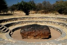 Hoba meteorite (Namibia). The earths  largest known meteorite was discovered on a farm near Grootfontein in 1920.