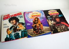 Three 3 x DOCTOR WHO Annuals 1979 1980 1981 Tom BAKER 4th Doctor by UpStagedVintage on Etsy