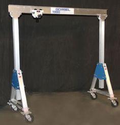 Adjustable Height Aluminum Gantry Crane, Gantry, Cranes, Hoist