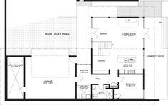 Modern Style House Plan - 2 Beds 3 Baths 2953 Sq/Ft Plan #498-2 Floor Plan - Main Floor Plan - Houseplans.com