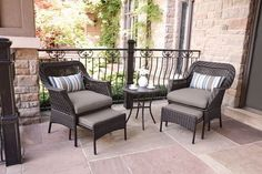 Outdoor Chairs, Outdoor Furniture Sets, Outdoor Decor, Decoration, Front Porch, Tuscany, Table, Conversation, Home Decor